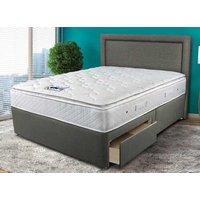 Sleepeezee Memory Comfort 1000 Pocket Divan Set - King Size (5' X 6'6), Side Opening Ottom 5056314345158