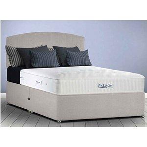 Sleepeezee Pocketgel Balance 1200 Divan Set - King Size (5' X 6'6), Side Opening Ottoman,  5056074988480