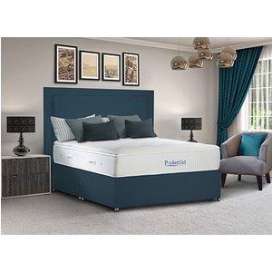 Sleepeezee Pocketgel Immerse 2200 Divan Set - Small Double (4' X 6'3), 4 Drawers, Sleepeez 5056074995075