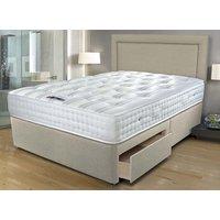 Sleepeezee Ultrafirm 1600 Pocket Divan Set - King Size (5' X 6'6), 2+2 Continental Drawers 5056074923016
