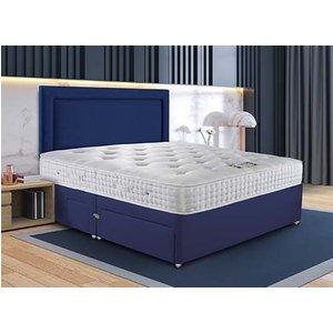 Sleepeezee Wool Supreme Pocket Divan Set - Super King Zip & Link (6' X 6'6), 4 Drawers, Sl 5056314343239