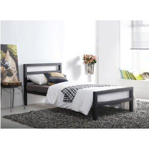 Time Living City Block Black Bed Frame - King Size (5' X 6'6) 5056347215831