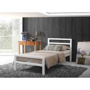 Time Living City Block White Bed Frame - Single (3' X 6'3) 5056347217033
