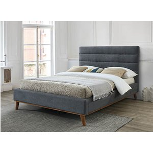Time Living Mayfair Dark Grey Bed Frame - Double (4'6 X 6'3) 5056347216814