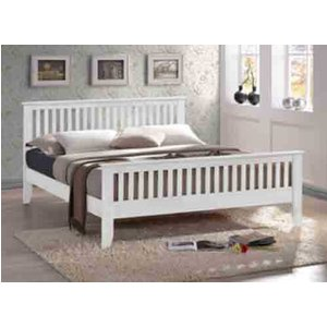 Time Living Turin White Bed Frame - Double (4'6 X 6'3) 5056347218191
