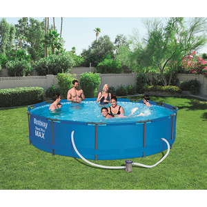 Bestway 12ft X 30inch Steel Pro Max™ Above Ground Swimming Pool With Filter 12x30 Steel Max With Filter