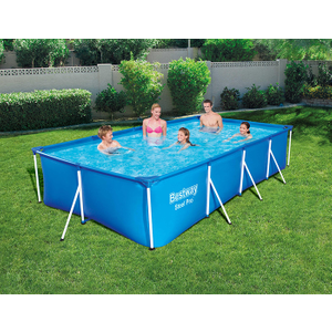Bestway 13ft Rectangular Above Ground Steel Pro Swimming Pool 13ft Rect Pool Only
