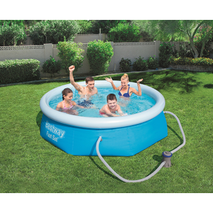 Bestway 8ft X 26inch Fast Set™ Above Ground Swimming Pool With Filter 8x26 Fs With Filter