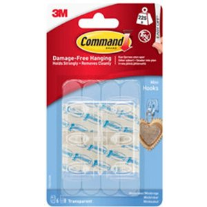 3m Command Plastic Small Hook (h)28mm (w)98mm (max. Weight)0.23kg  Pack Of 6