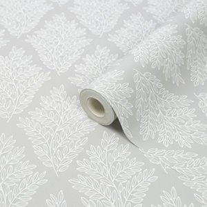Acinos Grey Leaves Smooth Wallpaper