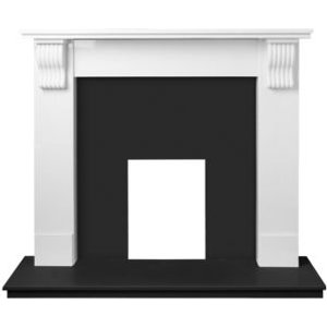Adam Adam Victoria Black & White Fireplace Surround Set