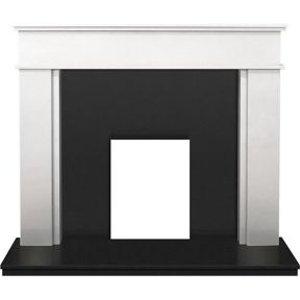 Adam Daventry Sparkly White & Black Granite Fire Surround