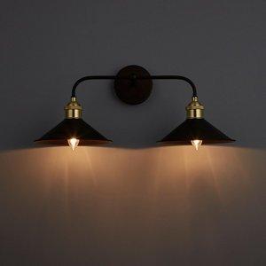 Inlight Alfie Bronze Effect Double Wall Light