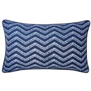 Azur Herringbone Blue & White Cushion