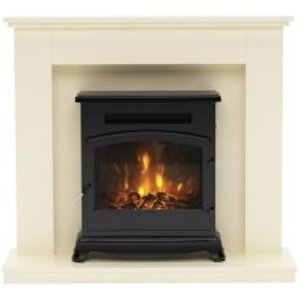 Be Modern Dalmore Chrome Effect Electric Fire Suite