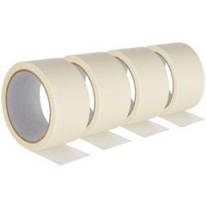 Beige Masking Tape (l)25m (w)48mm  Pack Of 4