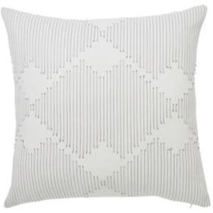 Beryl Geometric Grey & White Cushion
