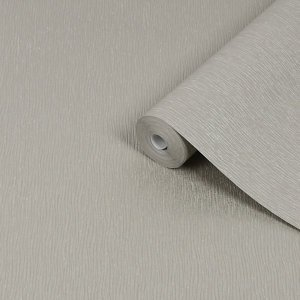 Boutique Shimmer Taupe Wave Metallic & Glitter Effect Textured Wallpaper