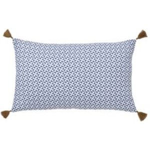 GoodHome Campton Geometric Blue & White Cushion