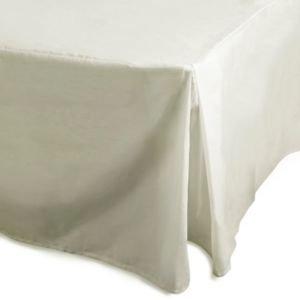 Chartwell Plain Dye Cream King Valance Sheet