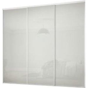 Spacepro Classic Arctic White 3 Door Sliding Wardrobe Door Kit (h)2260mm (w)2216mm