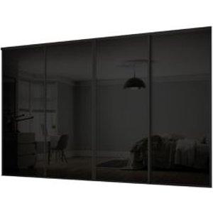 Spacepro Classic Black 4 Door Sliding Wardrobe Door Kit (h)2260mm (w)2978mm