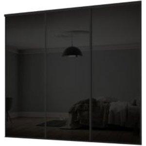 Spacepro Classic Black Sliding Wardrobe Door Kit (h)2260 Mm (w)2672mm  Pack Of 3