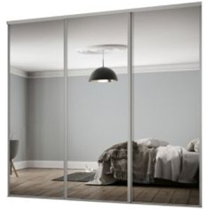 Spacepro Classic Mirrored Sliding Wardrobe Door Kit (h)2260 Mm (w)2672mm  Pack Of 3