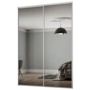 Spacepro Classic Mirrored Sliding Wardrobe Door Kit (h)2260 Mm (w)1489mm  Pack Of 2