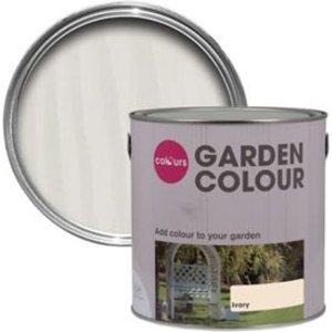 Colours Garden Ivory Matt Wood Paint  2.5