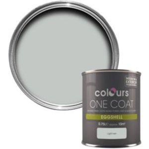 Colours One Coat Light Rain Eggshell Wood & Metal Paint 750 Ml