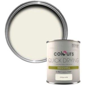 Colours Quick Dry Antique White Eggshell Wood & Metal Paint 750 Ml