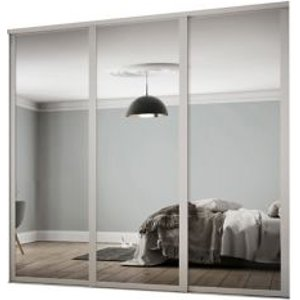 Spacepro Contemporary Shaker Mirrored Dove Grey 3 Door Sliding Wardrobe Door Kit (h)2260mm (w)2136m