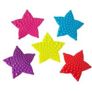 Cooke & Lewis Bhama Multicolour Star Pvc Anti-slip Bath Mat Pieces (l)120mm (w)120mm