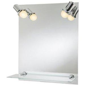 Cooke & Lewis Clarach Illuminated Rectangular Mirror (w)500mm (h)600mm