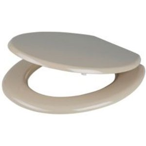 Cooke & Lewis Palmi Taupe Standard Close Toilet Seat