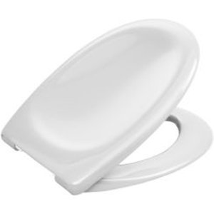 Cooke & Lewis Perdita White Soft Close Toilet Seat
