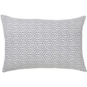 Dashes Patterned Black & White Cushion