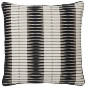 Delhi Patterned Black & White Cushion