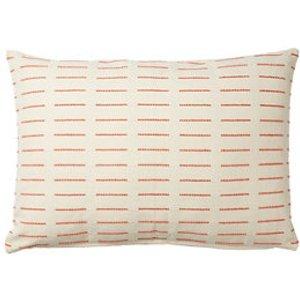 Blooma Denia Dash Mango & Off White Cushion (l)50cm X (w)70cm