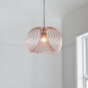 Goodhome Dharug Copper Effect Pendant Ceiling Light  (dia)380mm