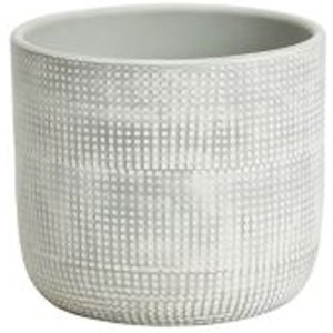 Goodhome Duck Egg Clay Dotted Plant Pot (dia)12cm