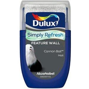 Dulux One Coat Cannon Ball Matt Emulsion Paint  30ml Tester Pot