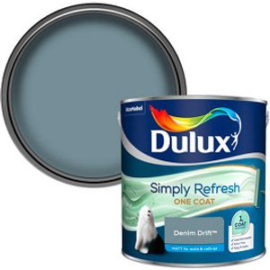 Dulux One Coat Denim Drift Matt Emulsion Paint  2.5l