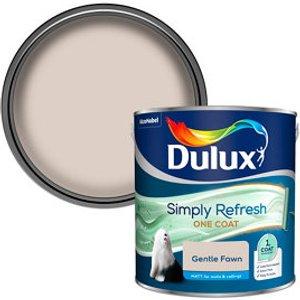 Dulux One Coat Gentle Fawn Matt Emulsion Paint  2.5l
