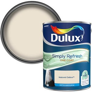 Dulux One Coat Natural Calico Matt Emulsion Paint  5l