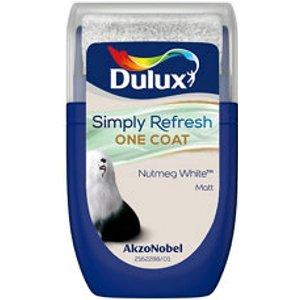 Dulux One Coat Nutmeg White Matt Emulsion Paint  30ml Tester Pot