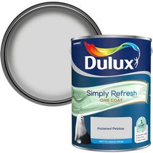 Dulux One Coat Polished Pebble Matt Emulsion Paint  5l