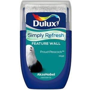Dulux One Coat Proud Peacock Matt Emulsion Paint  30ml Tester Pot