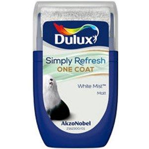 Dulux One Coat White Mist Matt Emulsion Paint  30ml Tester Pot
